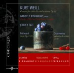 Kurt Weill – Concerto for violin & wind orchestra Op.12, Milhaud – Suite Op. 157b, Stravinsky – Histoire du soldat Suite: Recorded live
